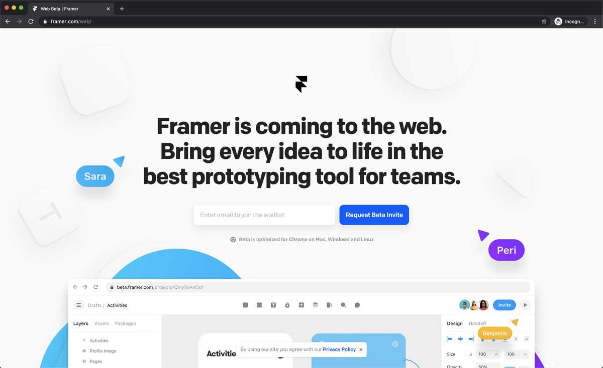 Framer Web beta